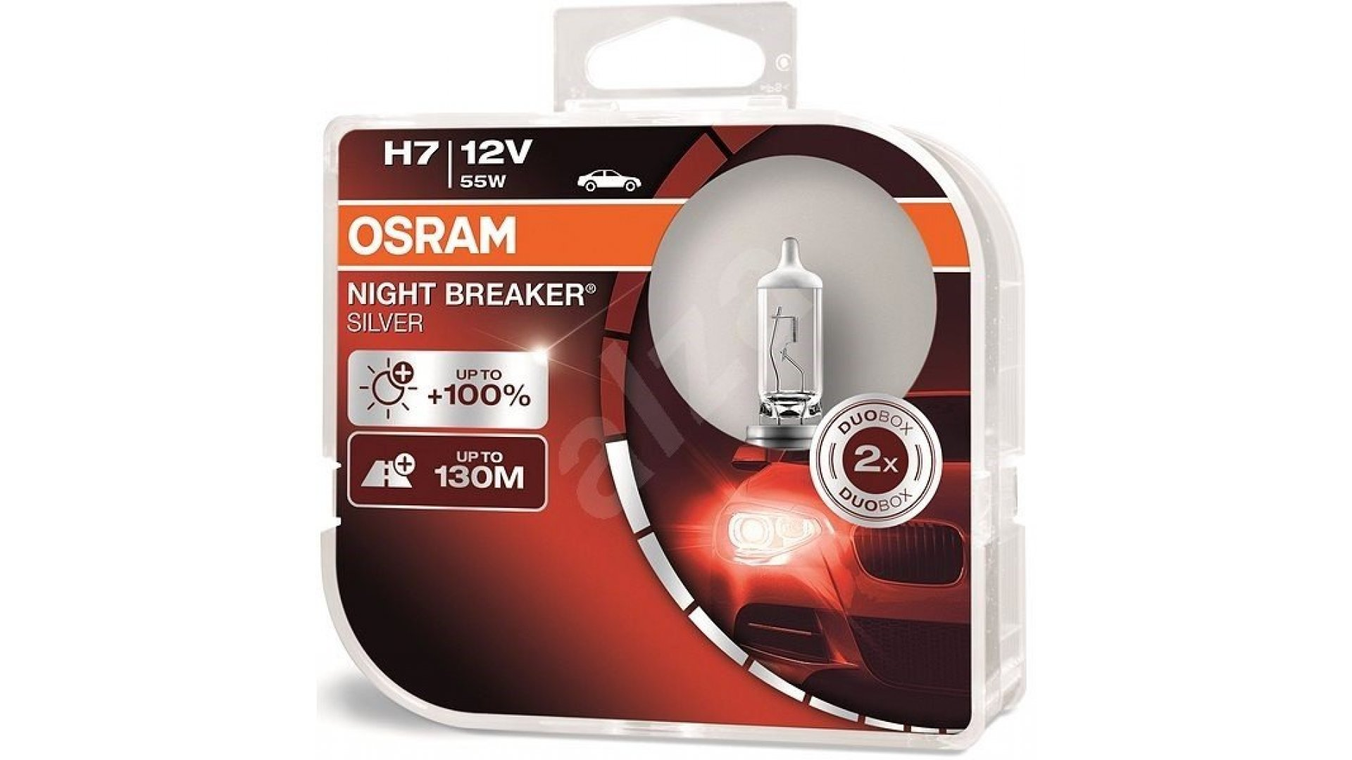 OSRAM Žárovka 12V 55W PX26D H7 NIGHT BREAKER® SILVER BOX